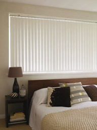 Example of Vertical Blind In Bedroom