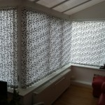 vertical blind in conservatory